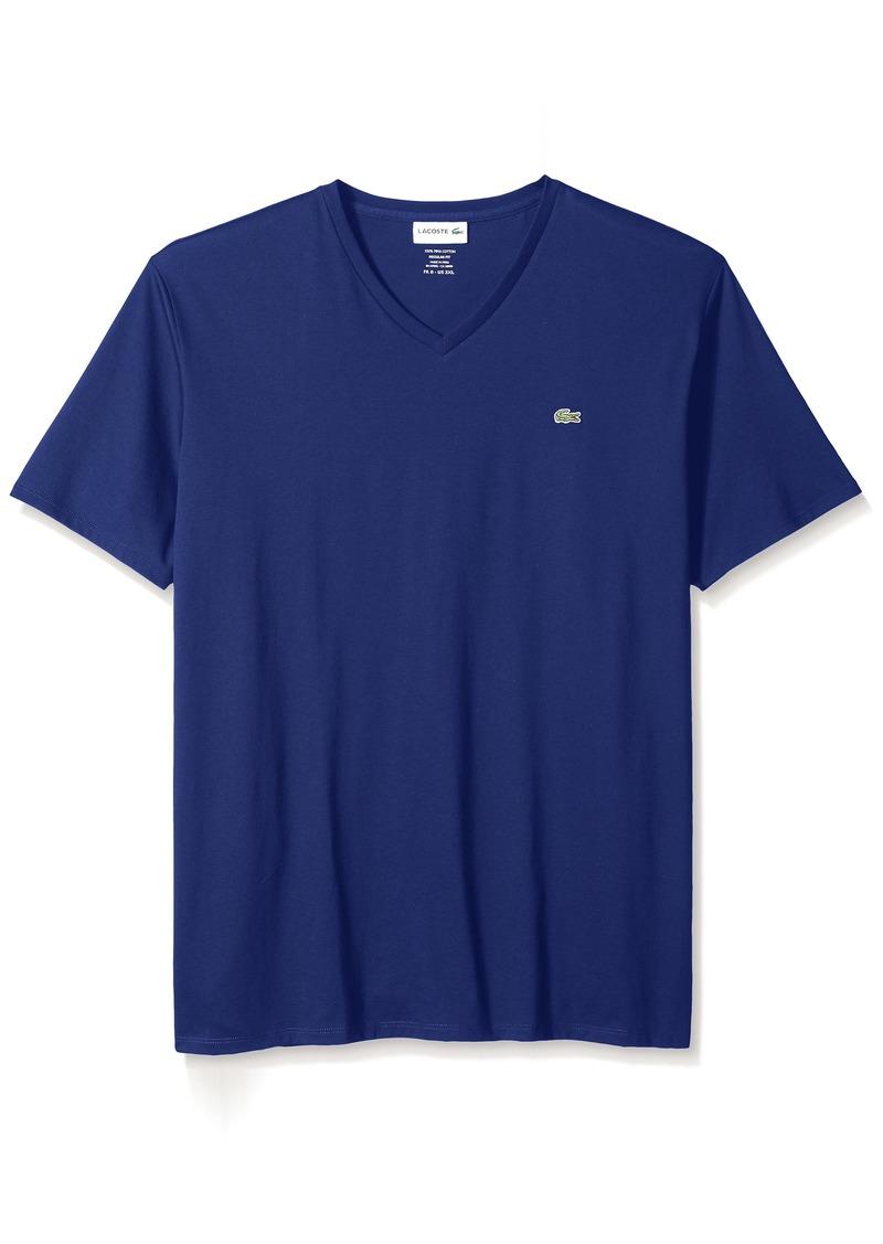 7b2708cecf On Sale today! Lacoste Lacoste Men s Short Sleeve V Neck Pima Jersey ...