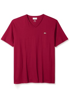 Lacoste Men's Short Sleeve V Neck Pima Jersey T-Shirt TH6710