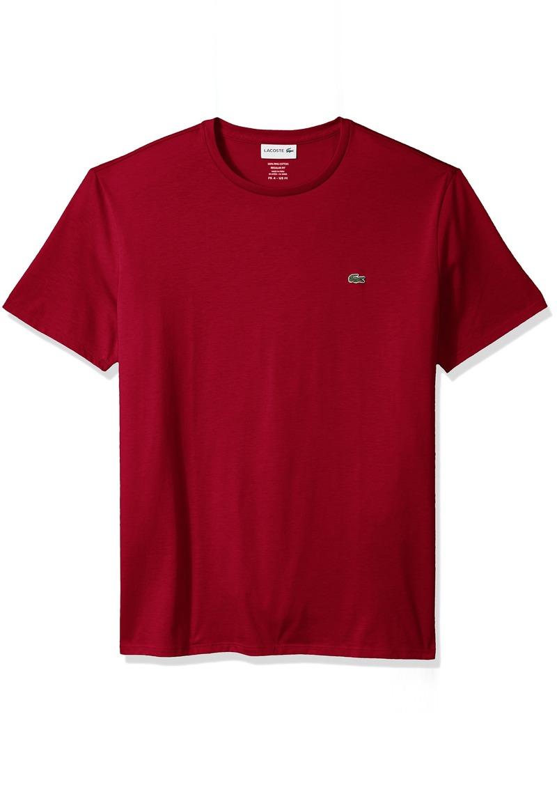 Lacoste Men's Short Sleeve Jersey Pima Regular Fit Crewneck T-Shirt TH6709-51