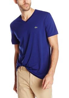 Lacoste Men's Short Sleeve Jersey Pima Regular Fit V Neck T-Shirt  6