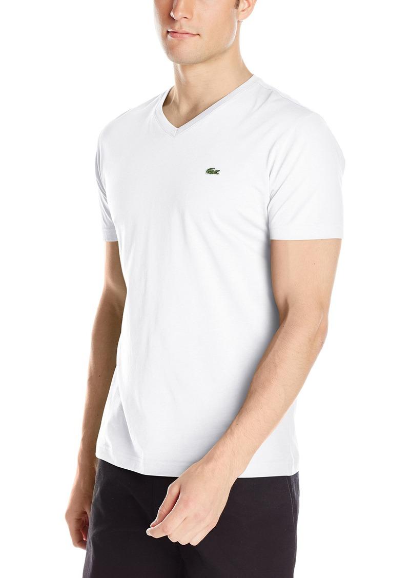 Lacoste Mens Short Sleeve Slim Fit Semi Fancy Birds Eye Polo