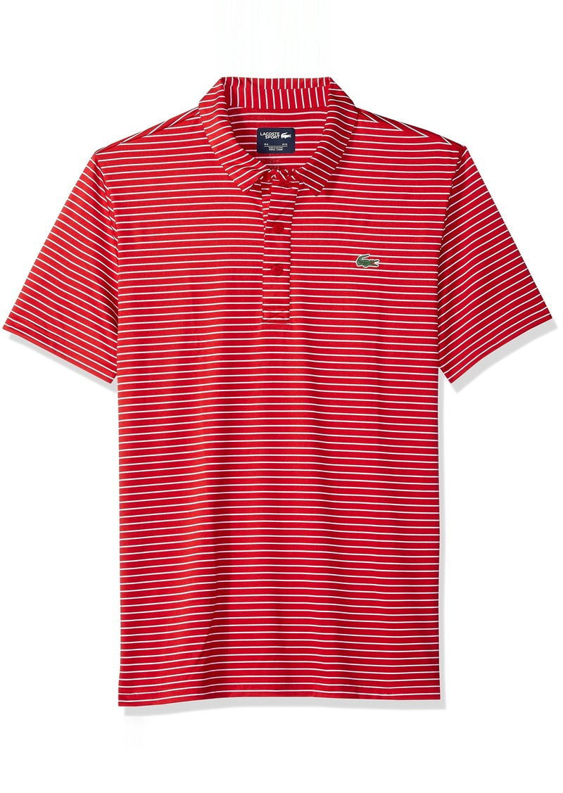 Lacoste Men's Short Sleeve Jersey Polo with Fine Stripes  4X-Large