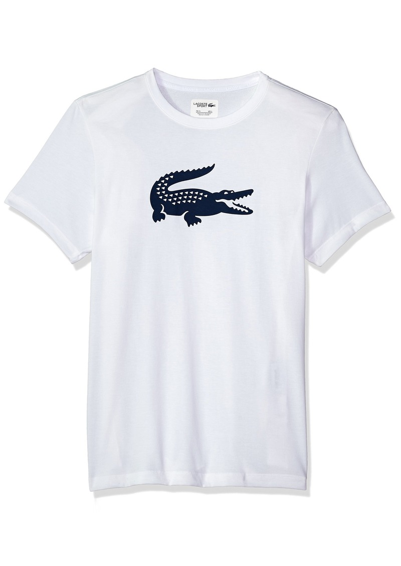857081d8 Lacoste Men's Short Sleeve Jersey Tech with Gator Graphic Logo T-Shirt  TH3377