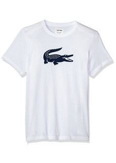 Lacoste Men's Short Sleeve Jersey Tech with Gator Graphic Logo T-Shirt TH3377