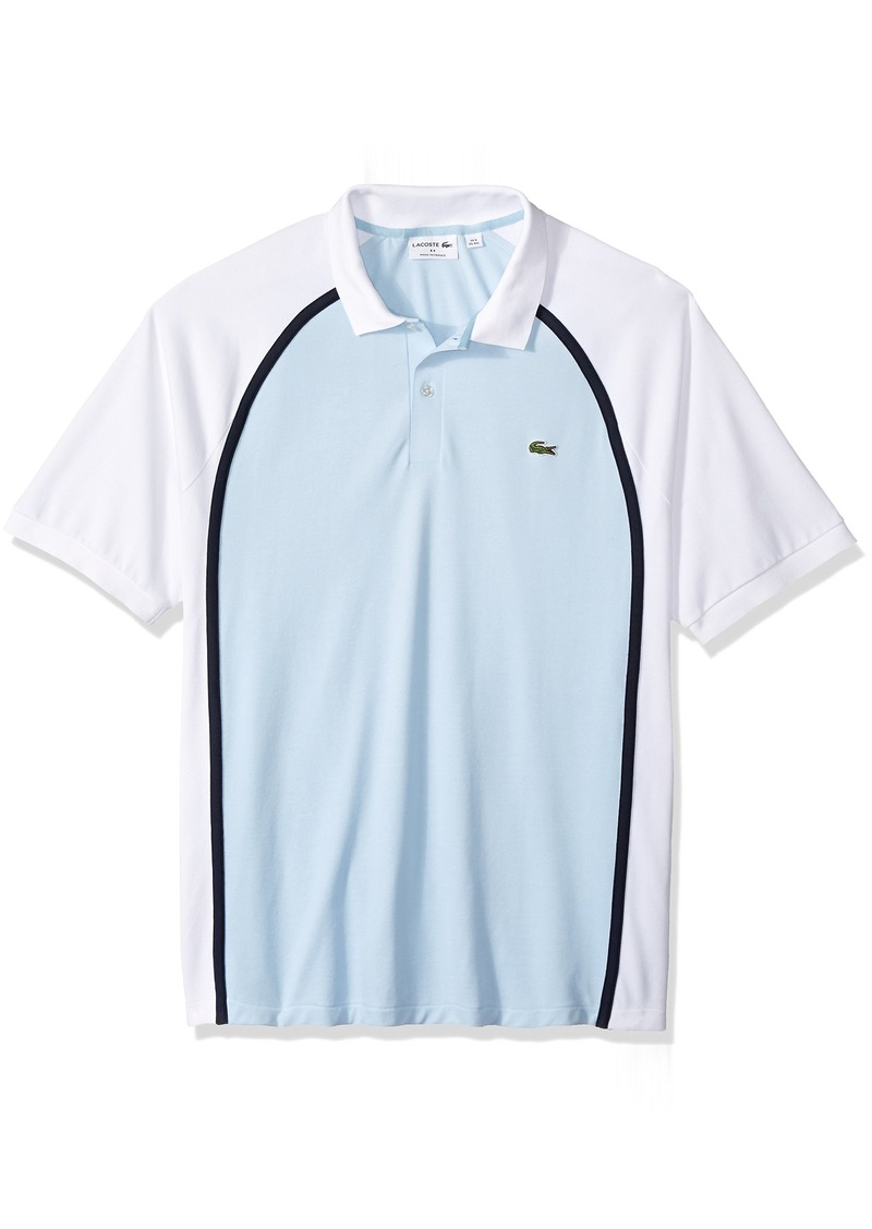 d4ce6363703df9 Lacoste Men's Short Sleeve Made in France Pique Reg Fit Polo PH3210 Rill /White-