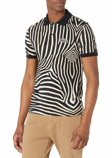 Lacoste Men's Short Sleeve National Geographic All Over Print Pique Polo Shirt  S