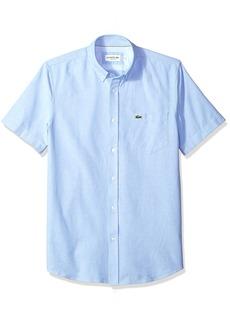 Lacoste Mens Short Sleeve Oxford Button Down Collar Regular Fit Woven Shirt Button Down Shirt  XL/XXL