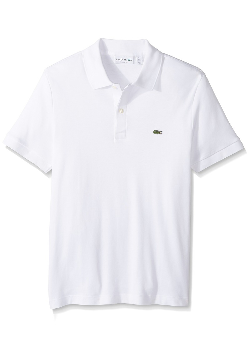 7f6db680 Lacoste Men's Short Sleeve Pima Jersey Interlock Regular Fit Polo DH2050 4X- Large