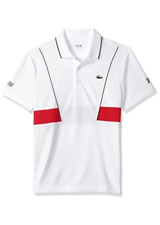 Lacoste Men's Short Sleeve Pique Ultra Dry with Contrast Broken Yoke & Piping Polo DH3325  4X-Large