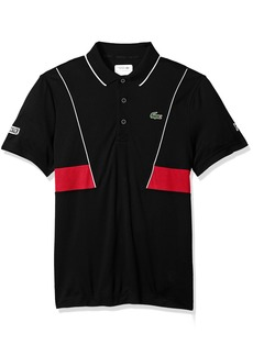 65c6d5bd Lacoste Men's Short Sleeve Pique Ultra Dry with Contrast Broken Yoke &  Piping Polo DH3325
