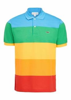 Lacoste Men's Short Sleeve Polaroid Colorblock Polo Shirt Fiji/Malachite-Gypsum-Orpiment-Corrida M