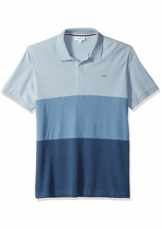 Lacoste Men's Short Sleeve REG FIT Blue Pack Colorblock Polo Nordic Multi
