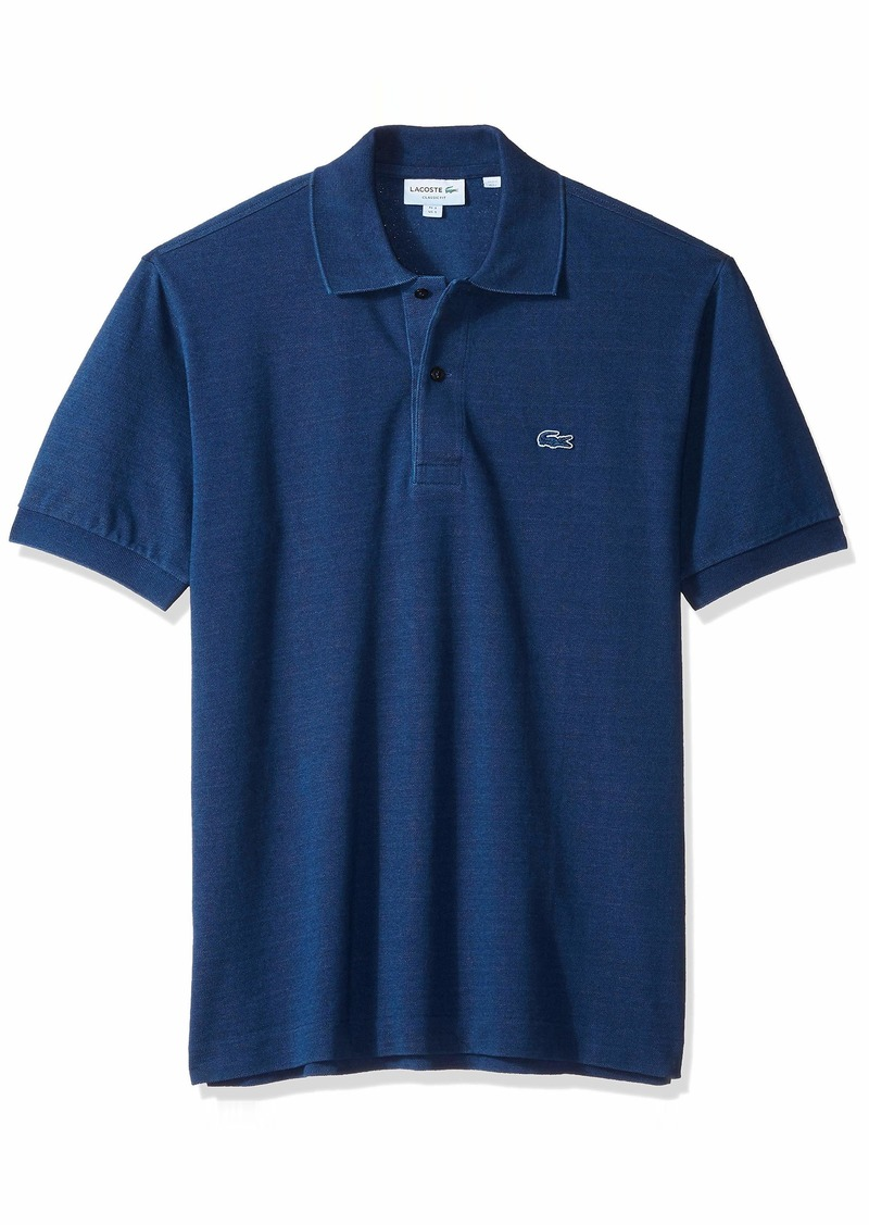Lacoste Men's Short Sleeve REG FIT Indigo Pique Blue Pack Polo INDIGOTIER