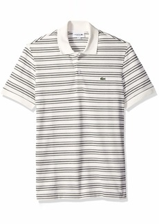 Lacoste Men's Short Sleeve REG FIT Petit Pique Polo WITHFINE Stripes