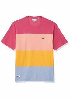 Lacoste Men's Short Sleeve Relax Fit Colorblock Pique T-Shirt  XL