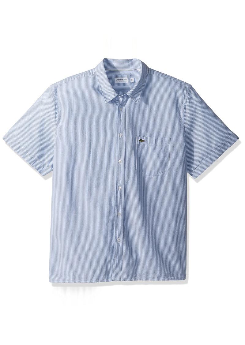 3ff6bdee1 Lacoste Long Sleeve Washed Oxford Shirt With Button Down Collar