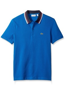 Lacoste Men's Short Sleeve Semi Fancy Bold Stripe Collar Regular Fit Polo  XL
