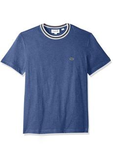 8aef7f8a Lacoste Men's Short Sleeve Semi Fancy Jersey Regular Fit T-Shirt TH3196