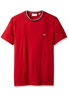 Lacoste Men's Short Sleeve Semi Fancy Jersey Tee-Regular Fit