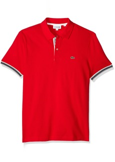 Lacoste Men's Short Sleeve Semi Fancy Petit Pique Slim Polo PH3187
