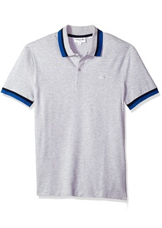 Lacoste Men's Short Sleeve Semi Fancy Pique Pima Stretch Slim Polo PH3185
