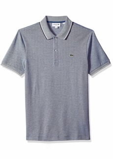 Lacoste Men's Short Sleeve Slim Fit Semi Fancy Birds Eye Polo  4X-Large