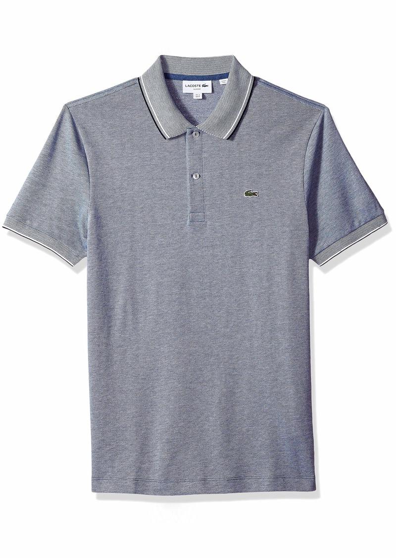 Lacoste Men's Short Sleeve Slim Fit Semi Fancy Birds Eye Polo  4X-Large