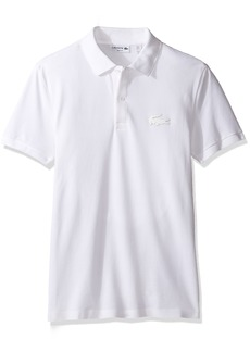 Lacoste Men's Short Sleeve Stretch Pique Rubber Croc Slim Fit Polo-PH57896