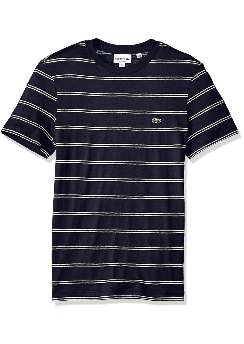 Th6810 Lacoste Mens Fine Stripe Short Sleeve T-Shirt