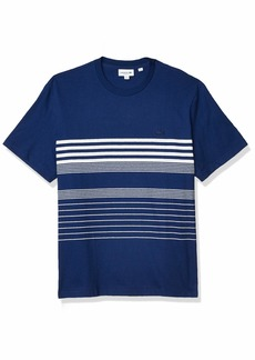 Lacoste Men's Short Sleeve Striped Regular Fit T-Shirt  L
