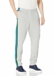 Lacoste Men's Side Striped Trackpants Silver Chine/Green-Utrama L