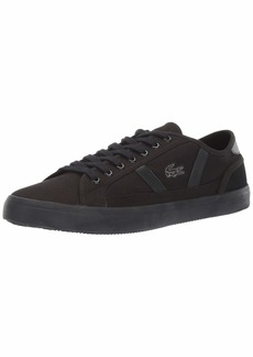 Lacoste Men's Sideline Sneaker Black  Medium US