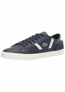 Lacoste Men's Sideline Sneaker Navy/off white Leather  Medium US