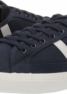 Lacoste Men's Sideline Sneaker Navy/off white Textile  Medium US