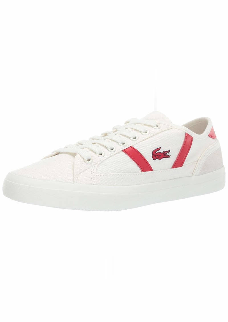 Lacoste Men's Sideline 119 1 CMA Sneaker Off Off White/red  Medium US