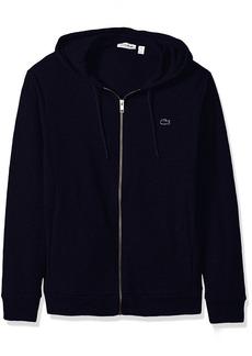 Lacoste Men's Slubby Lightweight Fleece Full Zip Sweater SH3594  XL