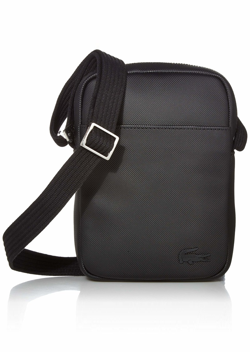 Lacoste Men's Small Classic Slim Vertical Camera Bag black ONE
