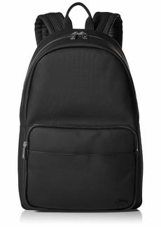 Lacoste Men's Solid Large Zip Backpack