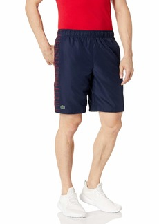 Lacoste Mens Sport 9.25'' Side Printed Panel Short Shorts  S