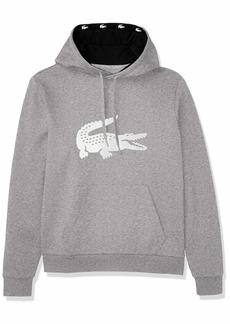 Lacoste Men's Sport Big Croc Fleece Hoodie Sweatshirt  3XL