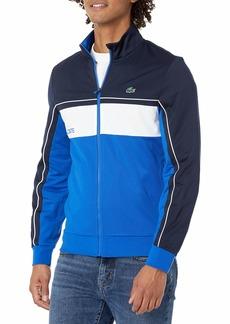 Lacoste Men's Sport Colorblock Tricot Jacket NAVY BLUE/LAZULI-WHITE-LAZULI XL