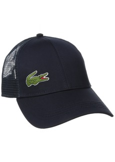 Lacoste Men's Sport Gabardine and Mesh Tennis Cap
