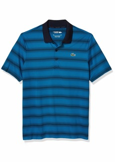 Lacoste Men's Sport Golf Striped Super Dry Polo Shirt  3XL