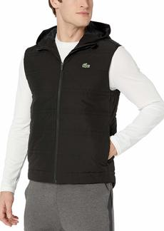 Lacoste Men's Sport Hooded Padded TRAINNG Vest Black M