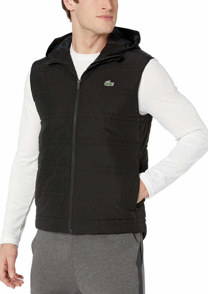 Lacoste Men's Sport Hooded Padded TRAINNG Vest Black M