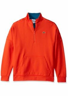 Lacoste Mens Sport Long Sleeve 1/2 Zip Logo Sweatshirt Sweatshirt  S