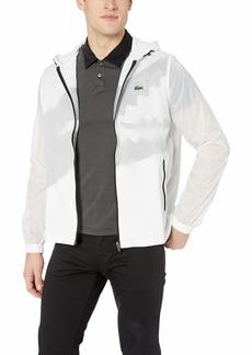 Lacoste Men's Sport Long Sleeve Contrasted Big Croc Wind Jacket