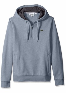 Lacoste Men's Sport Long Sleeve Half Zip Fleece Hoodie