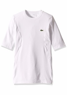 Lacoste Men's Sport ND Short Sleeve Ultra Dry Stretch Jrsy TEE White 3XL
