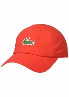 Lacoste Mens Sport Polyester Cap with Green Croc red ONE